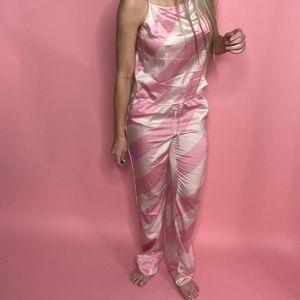 Victoria's Secret Intimates & Sleepwear - Victoria's Secret Pink Stripped Satin Pjs